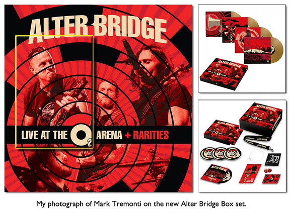 My photograph of Mark Tremont on the new Alter Bridge Box set.